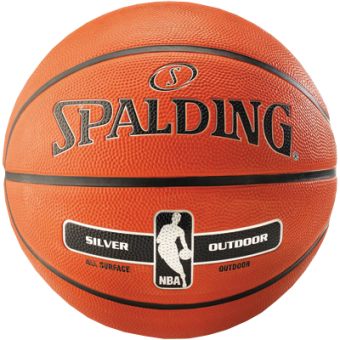 SPALDING NBA SILVER OUTDOOR (SIZE 5)
