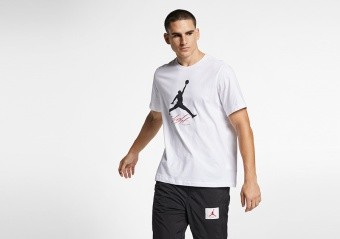 NIKE AIR JORDAN JUMPMAN FLIGHT HBR TEE WHITE