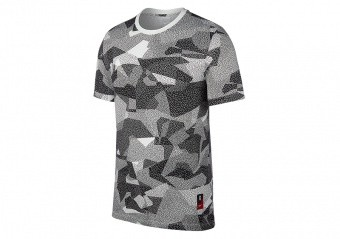 NIKE KYRIE DRY FIT TEE CAMO WHITE