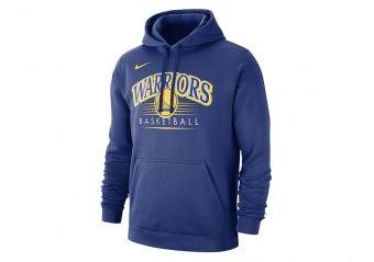 NIKE NBA GOLDEN STATE WARRIORS CREST HOODY RUSH BLUE