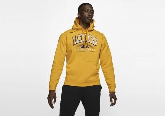 NIKE NBA LOS ANGELES LAKERS CREST HOODY AMARILLO