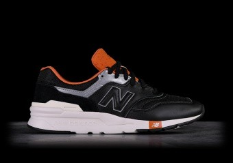 NEW BALANCE 997H BLACK WITH VINTAGE ORANGE