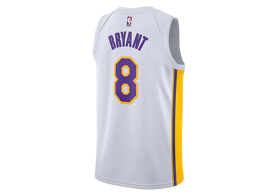 67ef282cd NIKE NBA LOS ANGELES LAKERS KOBE BRYANT SWINGMAN HOME JERSEY WHITE ...