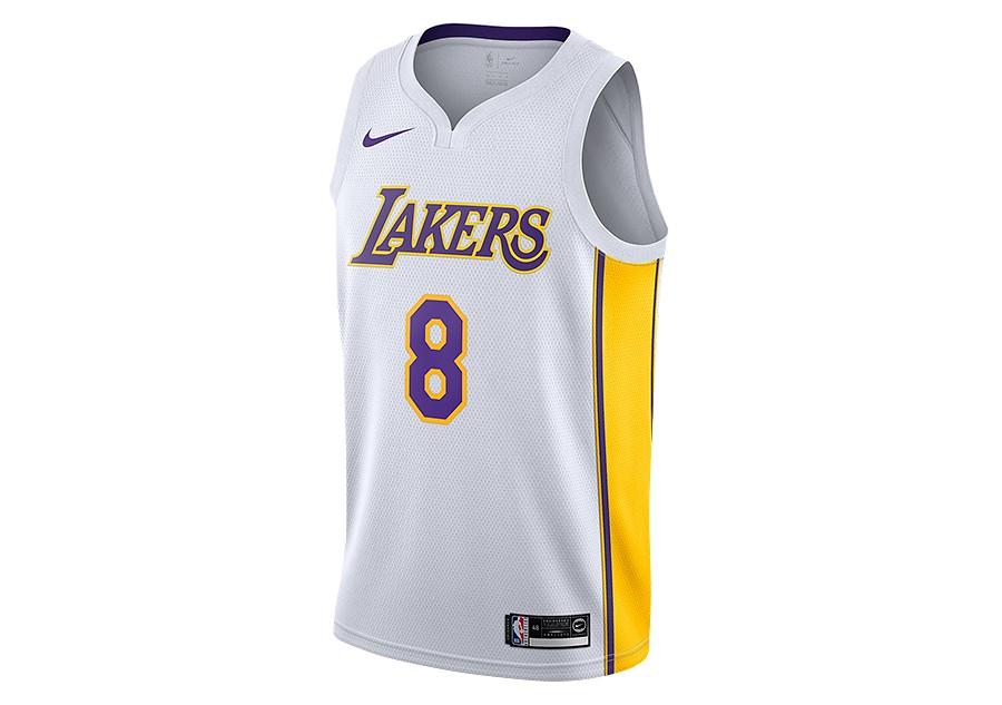 de016bfb2 NIKE NBA LOS ANGELES LAKERS KOBE BRYANT SWINGMAN HOME JERSEY WHITE price  €92.50