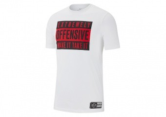 NIKE 'EXTREMELY OFFENSIVE' VERBIAGE TEE WHITE