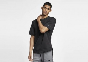 NIKE HOOPXFLY DRI-FIT TOP BLACK