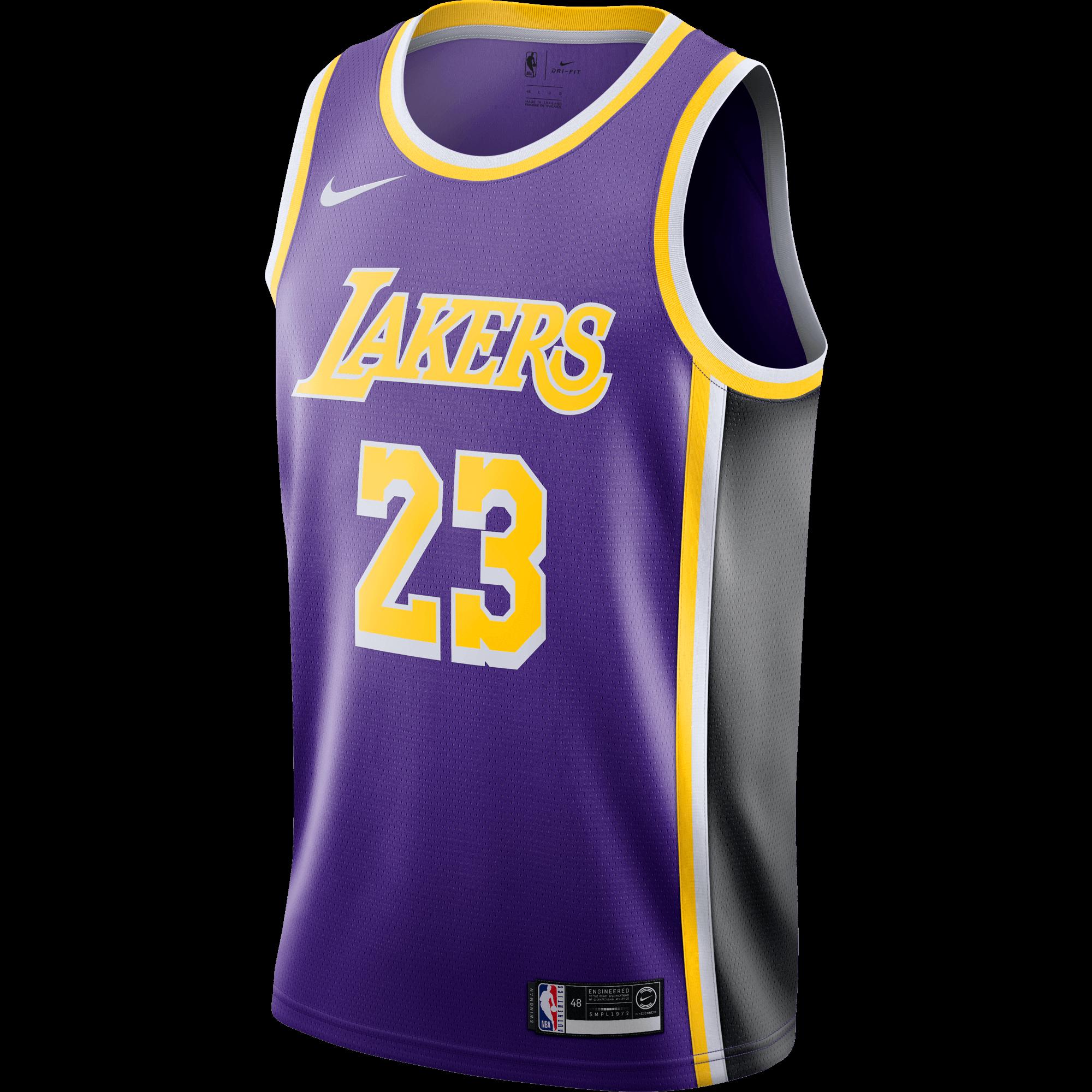 NIKE NBA LOS ANGELES LAKERS LEBRON JAMES SWINGMAN JERSEY