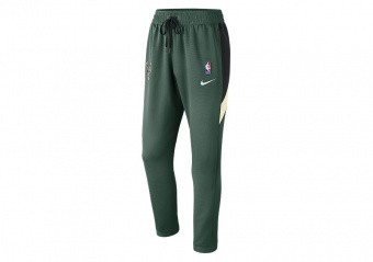 NIKE NBA MILWAUKEE BUCKS THERMAFLEX SHOWTIME PANTS FIR