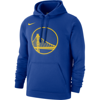 NIKE NBA GOLDEN STATE WARRIORS CLUB LOGO FLEECE PULLOVER HOODIE