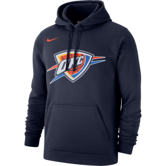NIKE NBA OKLAHOMA CITY THUNDER CLUB LOGO FLEECE PULLOVER HOODIE