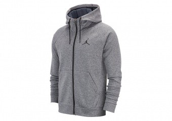NIKE AIR JORDAN 23 ALPHA THERMA FLEECE HOODIE CARBON HEATHER
