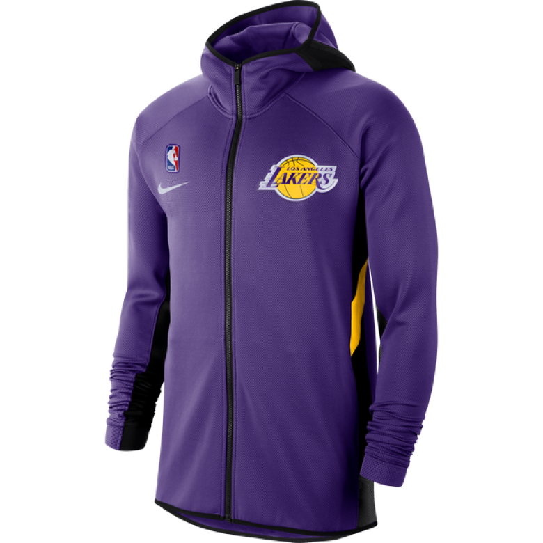 NIKE NBA LOS ANGELES LAKERS THERMA FLEX SHOWTIME HOODIE ...