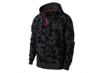 NIKE LEBRON BASKETBALL FULL-ZIP HOODIE ANTHRACITE