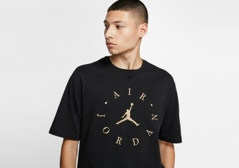 NIKE AIR JORDAN GRAPHIC TEE BLACK