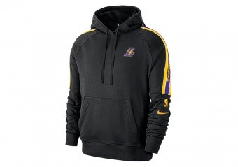 NIKE NBA LOS ANGELES LAKERS COURTSIDE PULLOVER HOODIE BLACK