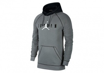 NIKE AIR JORDAN SPORT DNA HBR PULLOVER HOODIE SMOKE GREY