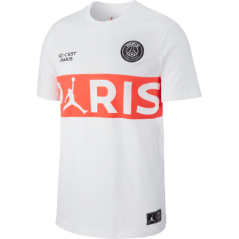 AIR JORDAN PSG PARIS SAINT-GERMAIN WORDMARK TEE