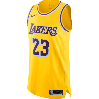 NIKE NBA LOS ANGELES LAKERS LEBRON JAMES AUTHENTIC JERSEY