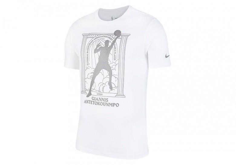 NIKE NBA GIANNIS ANTETOKOUNMPO DRI-FIT TEE WHITE price €35 ...
