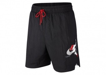 NIKE AIR JORDAN JUMPMAN POOLSIDE 7' SHORTS BLACK