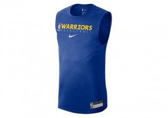NIKE NBA GOLDEN STATE WARRIORS TEE RUSH BLUE