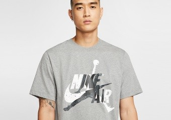 NIKE AIR JORDAN JUMPMAN CLASSICS TEE CARBON HEATHER