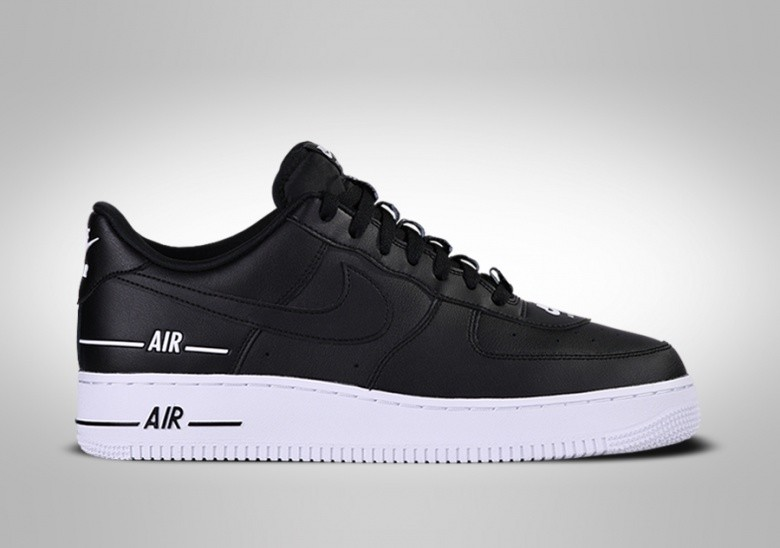 NIKE AIR FORCE 1 LOW '07 LV8 DOUBLE AIR BLACK WHITE