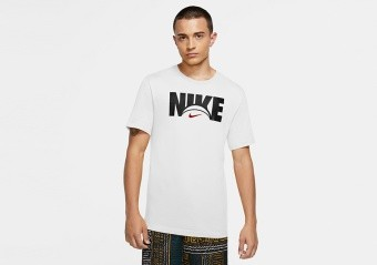NIKE BASKETBALL DRI-FIT TEE WHITE