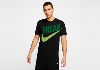 NIKE GIANNIS 'FREAK' DRI-FIT TEE BLACK PINE GREEN
