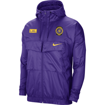 NIKE NBA LOS ANGELES LAKERS COURTSIDE LIGHTWEIGHT JACKET