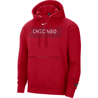 NIKE NBA CHICAGO BULLS COURTSIDE PULLOVER HOODIE