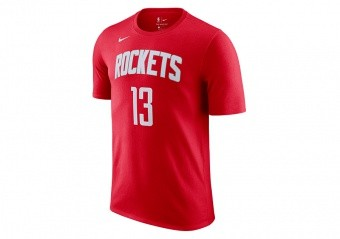 NIKE NBA HOUSTON ROCKETS JAMES HARDEN TEE UNIVERSITY RED