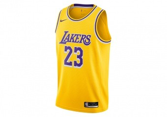 NIKE NBA LOS ANGELES LAKERS LEBRON JAMES ICON EDITION SWINGMAN JERSEY AMARILLO