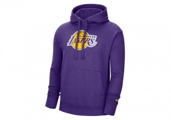 NIKE NBA LOS ANGELES LAKERS ESSENTIAL LOGO PULLOVER HOODIE FIELD PURPLE