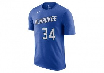 NIKE NBA MILWAUKEE BUCKS GIANNIS ANTETOKOUNMPO CITY EDITION TEE GAME ROYAL