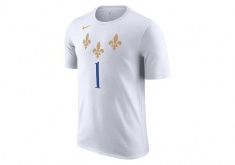 NIKE NBA NEW ORLEANS PELICANS ZION WILLIAMSON CITY EDITION TEE WHITE