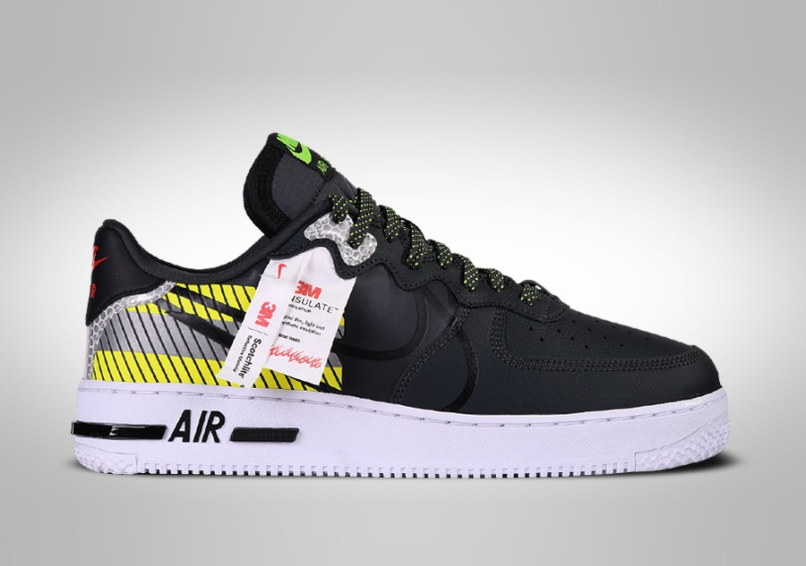 NIKE AIR FORCE 1 LOW REACT LX 3M PACK BLACK pour €122,50 ...