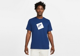 NIKE AIR JORDAN JUMPMAN BOX CREW TEE BLUE VOID