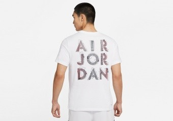 NIKE AIR JORDAN DRI-FIT AIR GRAPHIC CREW TEE WHITE