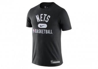 NIKE NBA BROOKLYN NETS DRI-FIT THE TEAM'S PRACTICE TEE BLACK