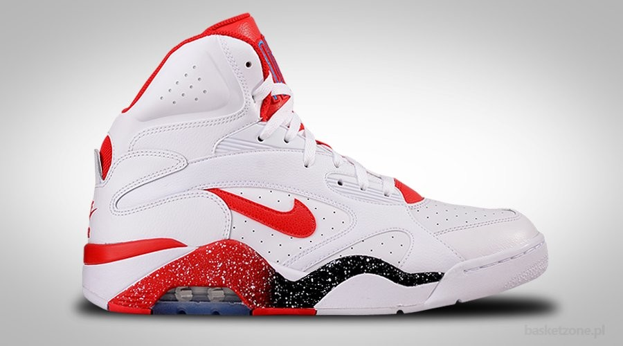 NIKE AIR FORCE 180 MID WHITE HYPER RED