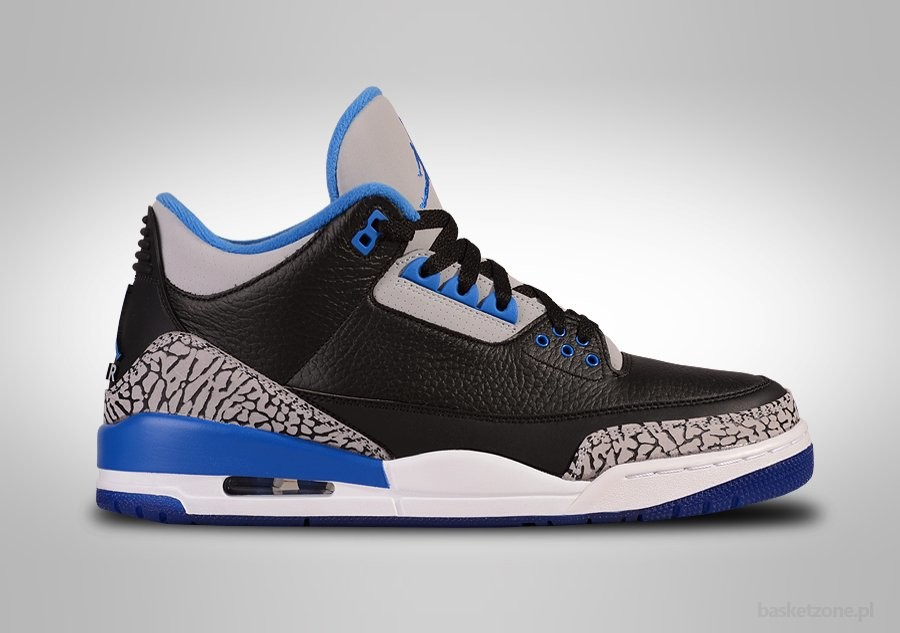 info for 6c606 b0a44 NIKE AIR JORDAN 3 RETRO BLACK SPORT BLUE voor €185,00 | Basketzone.net