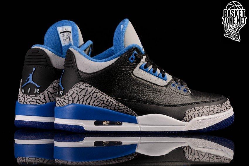 a9a1b464eb7497 NIKE AIR JORDAN 3 RETRO BLACK SPORT BLUE voor €185