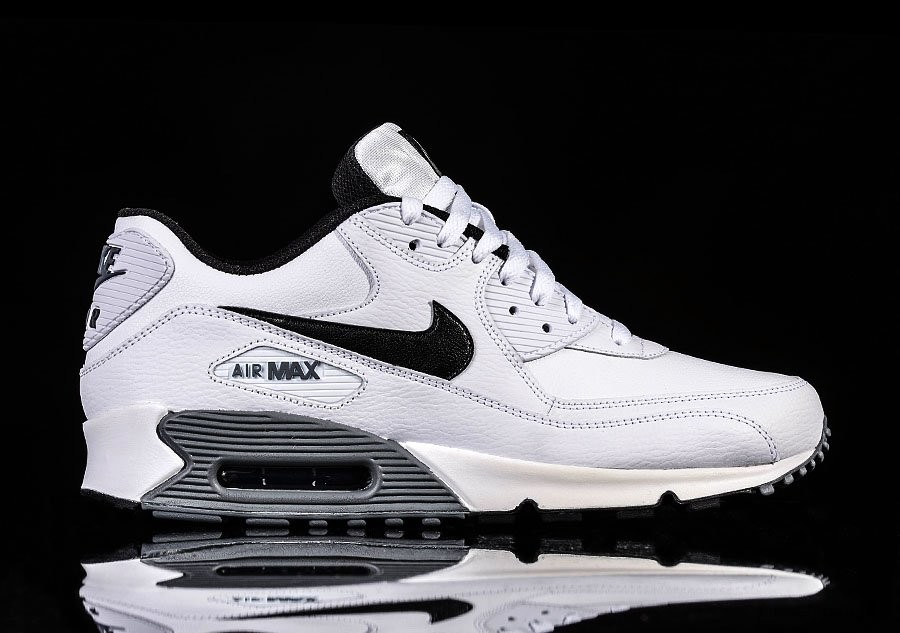 NIKE AIR MAX 90 ESSENTIAL WHITE BLACK COOL GREY