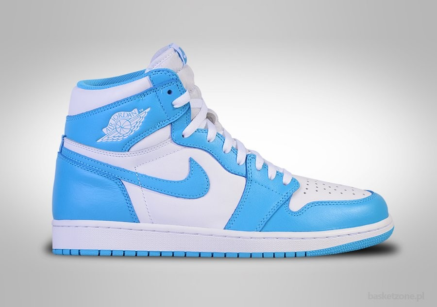 cheaper c4714 d80e6 ... real nike air jordan 1 retro high og unc white powder blue 96de5 7dbd1
